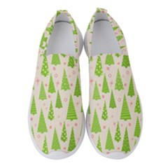 Christmas Green Tree Women s Slip On Sneakers by AnjaniArt