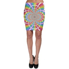 Color Background Structure Lines Rainbow Bodycon Skirt