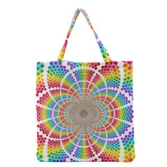 Color Background Structure Lines Rainbow Grocery Tote Bag