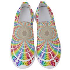 Color Background Structure Lines Rainbow Men s Slip On Sneakers by AnjaniArt