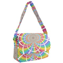 Color Background Structure Lines Rainbow Courier Bag by AnjaniArt