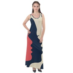 Kellytvgear Womans March Sleeveless Velour Maxi Dress by Kellytvgear