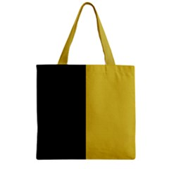 Black   Ceylon Yellow Zipper Grocery Tote Bag