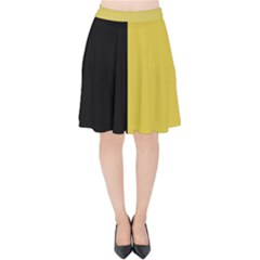 Black   Ceylon Yellow Velvet High Waist Skirt by TimelessFashion