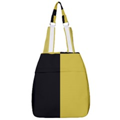 Black - Ceylon Yellow Center Zip Backpack by TimelessFashion