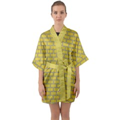 Brick Wall  Quarter Sleeve Kimono Robe by TimelessFashion