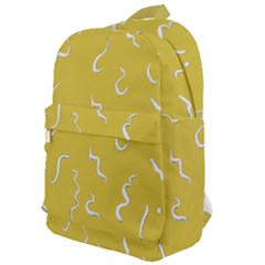 Ceylon Yellow Scribbles Classic Backpack by TimelessFashion