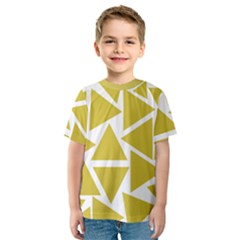 Ceylon Yellow Triangles Kids  Sport Mesh Tee