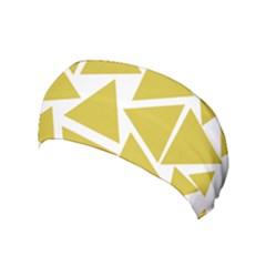 Ceylon Yellow Triangles Yoga Headband