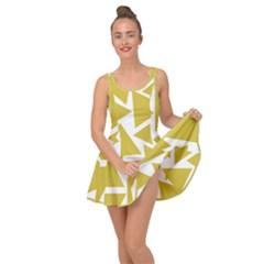 Ceylon Yellow Triangles Inside Out Casual Dress