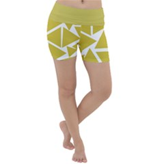 Ceylon Yellow Triangles Lightweight Velour Yoga Shorts