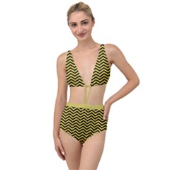 Chevron Effect Tied Up Two Piece Swimsuit by TimelessFashion