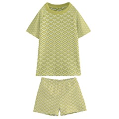 Circly Waves Kids  Swim Tee And Shorts Set