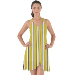 Classic Stripes  Show Some Back Chiffon Dress by TimelessFashion