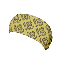 Damask Black On Ceylon Yellow  Yoga Headband