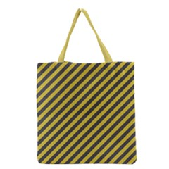 Diagonal Stripes    Grocery Tote Bag by TimelessFashion