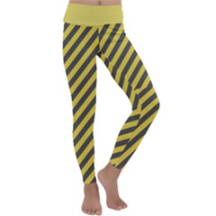 Diagonal Stripes    Kids  Lightweight Velour Classic Yoga Leggings by TimelessFashion