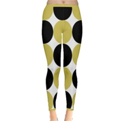 Dots Effect  Inside Out Leggings by TimelessFashion