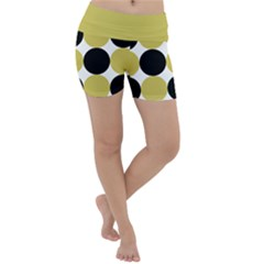 Dots Effect  Lightweight Velour Yoga Shorts by TimelessFashion