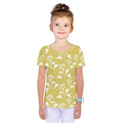 Floral Ceylon Yellow  Kids  One Piece Tee by TimelessFashion