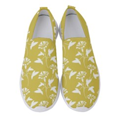 Floral Ceylon Yellow  Women s Slip On Sneakers by TimelessFashion