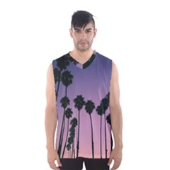All Over Printed T Shirt  Palm Trees Men s Basketball Tank Top