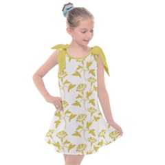 Floral In Ceylon Yellow Kids  Tie Up Tunic Dress by TimelessFashion