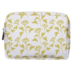 Floral In Ceylon Yellow Make Up Pouch (medium)