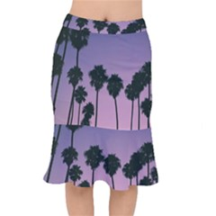 All Over Printed T Shirt  Palm Trees Mermaid Skirt