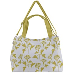 Floral In Ceylon Yellow Double Compartment Shoulder Bag