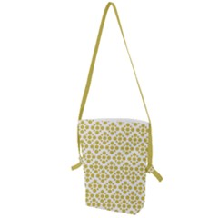 Floral Dot Series   Ceylon Yellow And White  Folding Shoulder Bag by TimelessFashion
