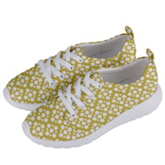 Floral Dot Series   White And Ceylon Yellow Women s Lightweight Sports Shoes by TimelessFashion