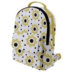 Flower Star Flap Pocket Backpack (small) by TimelessFashion