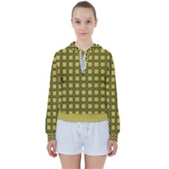 Grid Of Elegance  Women s Tie Up Sweat by TimelessFashion