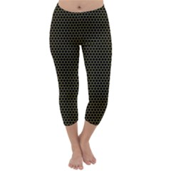 Hexagon Effect  Capri Winter Leggings