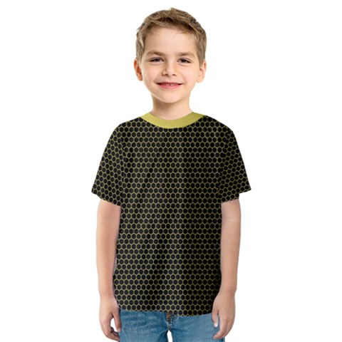 Hexagon Effect  Kids  Sport Mesh Tee by TimelessFashion