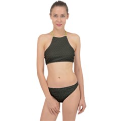 Hexagon Effect  Racer Front Bikini Set