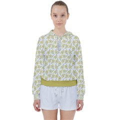 Just Leaves  Women s Tie Up Sweat by TimelessFashion