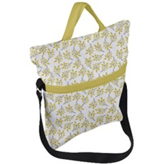 Just Leaves  Fold Over Handle Tote Bag by TimelessFashion