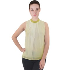 Marble  Mock Neck Chiffon Sleeveless Top by TimelessFashion