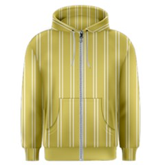 Nice Stripes In Ceylon Yellow And White Men s Zipper Hoodie by TimelessFashion