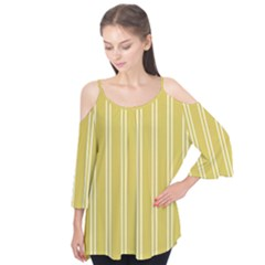 Nice Stripes In Ceylon Yellow And White Flutter Tees