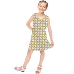 Odd Shaped Grid  Kids  Tunic Dress