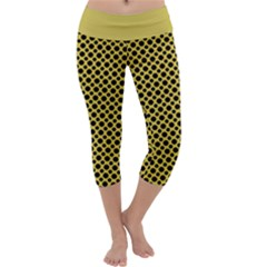 Polka Dots Small  Capri Yoga Leggings