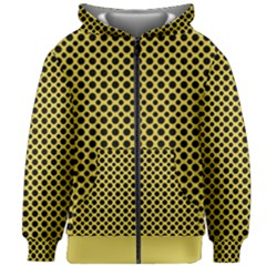 Polka Dots Small  Kids  Zipper Hoodie Without Drawstring