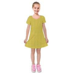 Simple Stripes  Kids  Short Sleeve Velvet Dress
