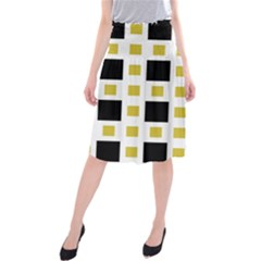 Squares On A Mission  Midi Beach Skirt by TimelessFashion