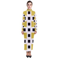 Squares On A Mission Turtleneck Maxi Dress by TimelessFashion