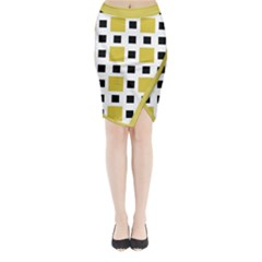 Squares On A Mission Midi Wrap Pencil Skirt by TimelessFashion