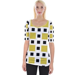 Squares On A Mission Wide Neckline Tee by TimelessFashion